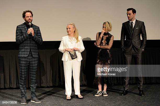 Director Drake Doremus actor Jacki Weaver actor Kristen Stewart and actor Nicholas Hoult attend the Los Angeles Premiere of EQUALS at Arclight...