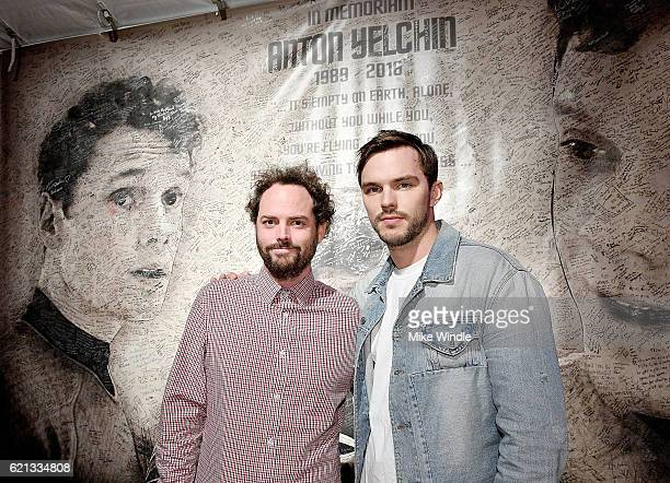 Director Drake Doremus and actor Nicholas Hoult attend the opening of the Anton Yelchin photography exhibit at Other Gallery on November 5 2016 in...
