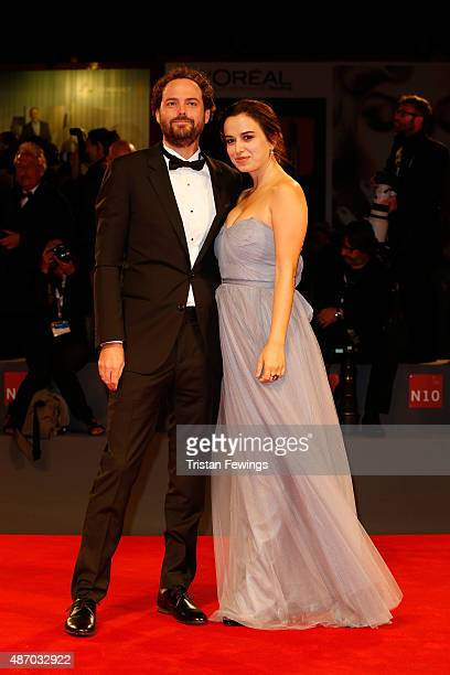 Director Drake Doremus and actress Kristen Stewart attend the premiere of 'Equals' during the 72nd Venice Film Festival at the Sala Grande on...