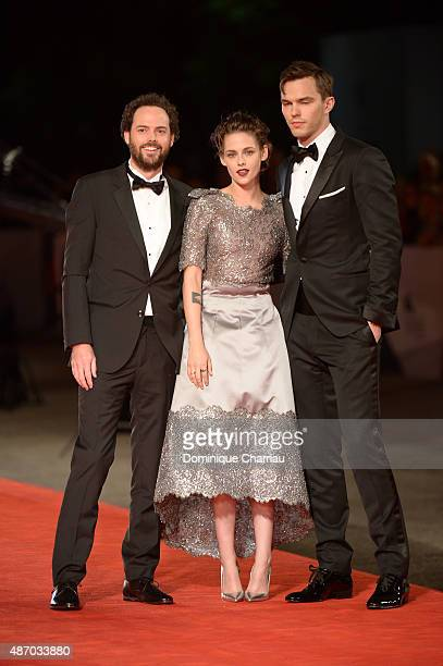 Director Drake Doremus, Kristen Stewart and Nicholas Hoult attend the premiere of 'Equals' during the 72nd Venice Film Festival at the Sala Grande on...