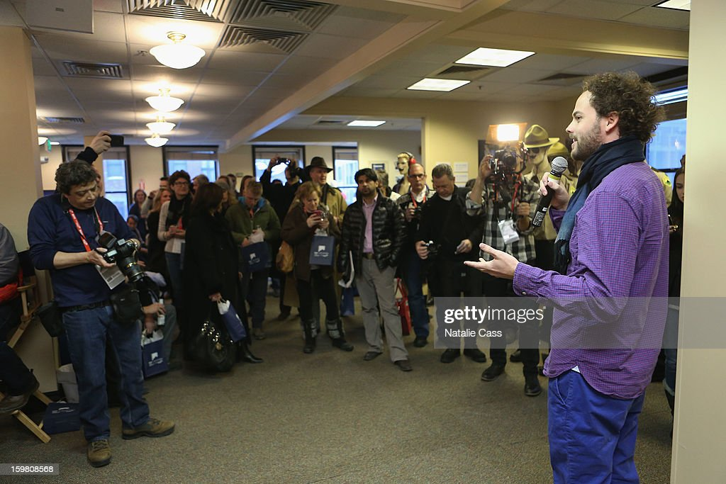 Director Drake Doremus speaks at the Chase Sapphire VIP Event at Chase Sapphire during the 2013 Sundance Film Festival on January 20, 2013 in Park City, Utah.