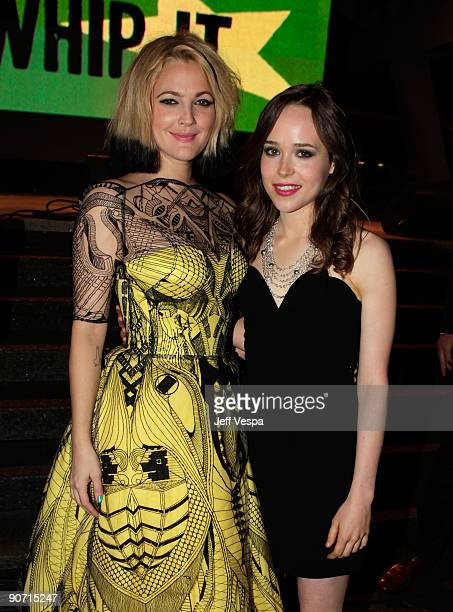 Director Drew Barrymore and actress Ellen Page attend theWhip It Premiere at the Ryerson Theatre during the 2009 Toronto International Film Festival...