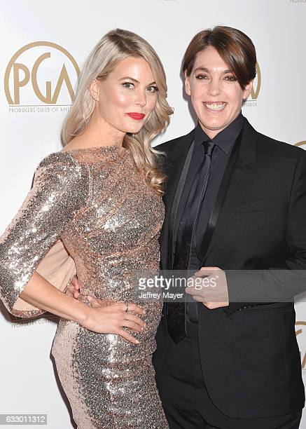 Director Drew Denny and producer Megan Ellison arrive at the 28th Annual Producers Guild Awards at The Beverly Hilton Hotel on January 28 2017 in...
