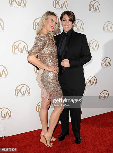 Director Drew Denny and producer Megan Ellison attend the 28th annual Producers Guild Awards at The Beverly Hilton Hotel on January 28 2017 in...
