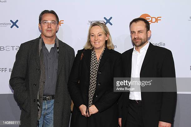 Director Dror Zahavi producer Ariane Krampe and guest attend the 'Muenchen 72 Das Attentat' Germany Premiere at Astor Film Lounge on March 7 2012 in...