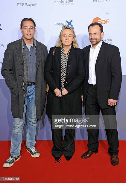 Director Dror Zahavi producer Ariane Krampe and guest attend the premiere of 'Muenchen 72 Das Attentat' at Astor Film Lounge on March 7 2012 in...