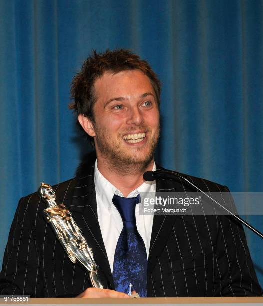 Director Duncan Jones receives the Best Production Design award for the film 'Moon' at the 42nd Sitges Film Festival on October 11 2009 in Barcelona...