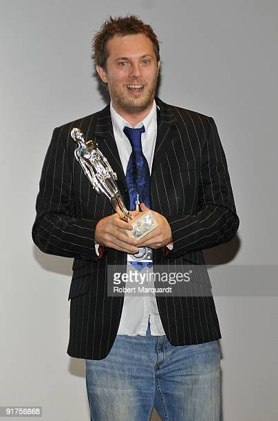 Director Duncan Jones receives the Best Script for the film 'Moon' at the 42nd Sitges Film Festival on October 11 2009 in Barcelona Spain
