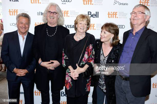 Director Dustin Hoffman Actor Billy Connolly Actress Maggie Smith Actress Pauline Collins and Actor Tom Courtenay attend the Quartet premiere during...