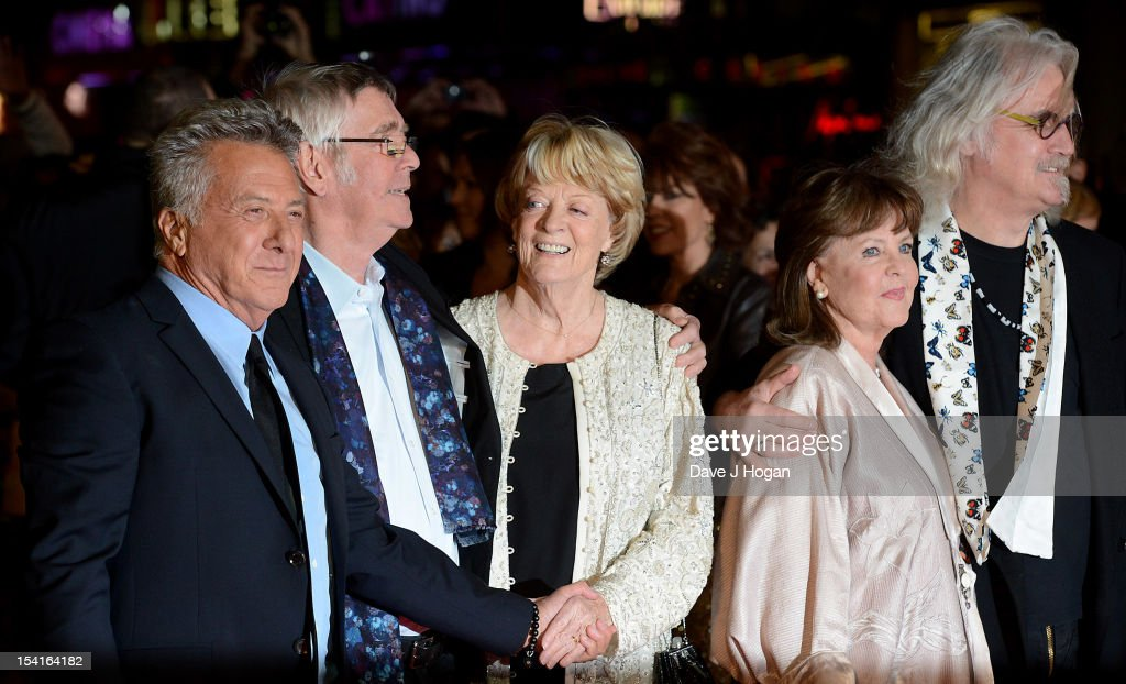 Director Dustin Hoffman, actor Tom Courtenay, actress Dame Maggie Smith, actress Pauline Collins and comedian Billy Connolly attend the premiere of 'Quartet' during the 56th BFI London Film Festival at Odeon Leicester Square on October 15, 2012 in London, England.