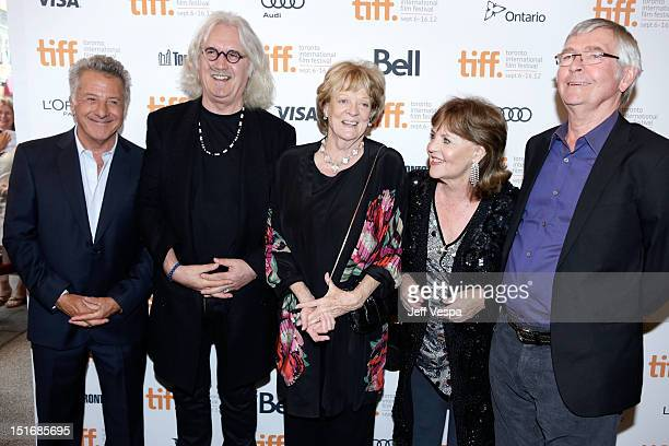 Director Dustin Hoffman Actors Billy Connolly Maggie Smith Pauline Collins and Tom Courtenay attend the Quartet premiere during the 2012 Toronto...