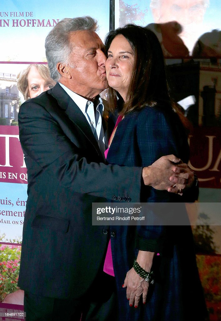 Director Dustin Hoffman and his wife Lisa Hoffman attend 'Quartet' movie premiere, held at UGC Cine Cite les Halles on March 26, 2013 in Paris, France.