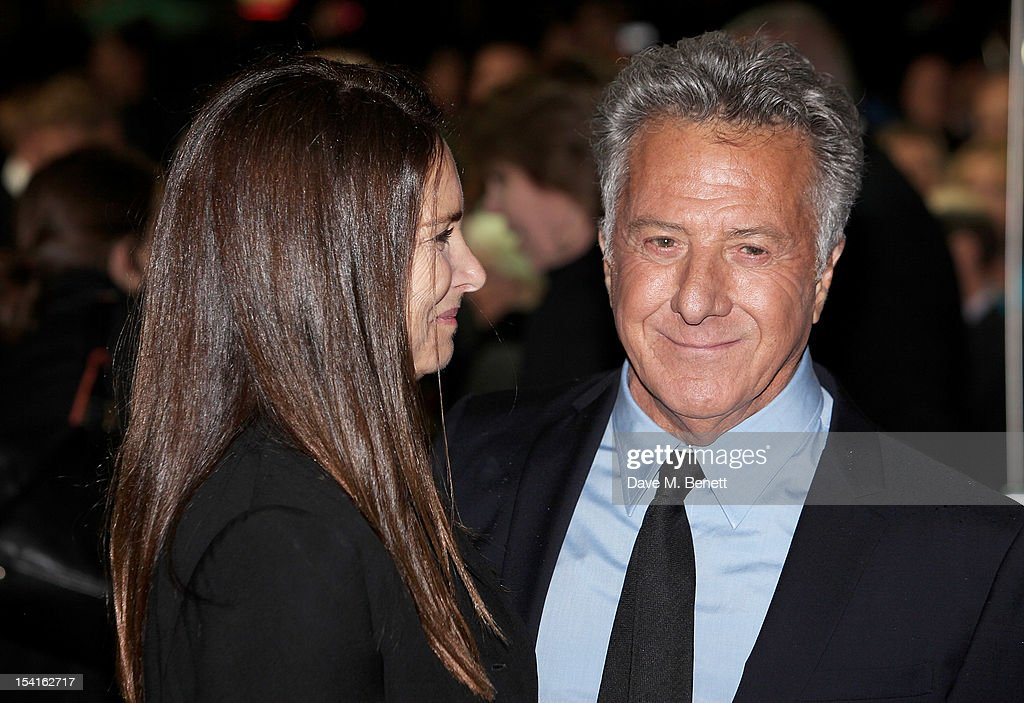 Director Dustin Hoffman (R) and wife Lisa attend the Premiere of 'Quartet' during the 56th BFI London Film Festival at Odeon Leicester Square on October 15, 2012 in London, England.