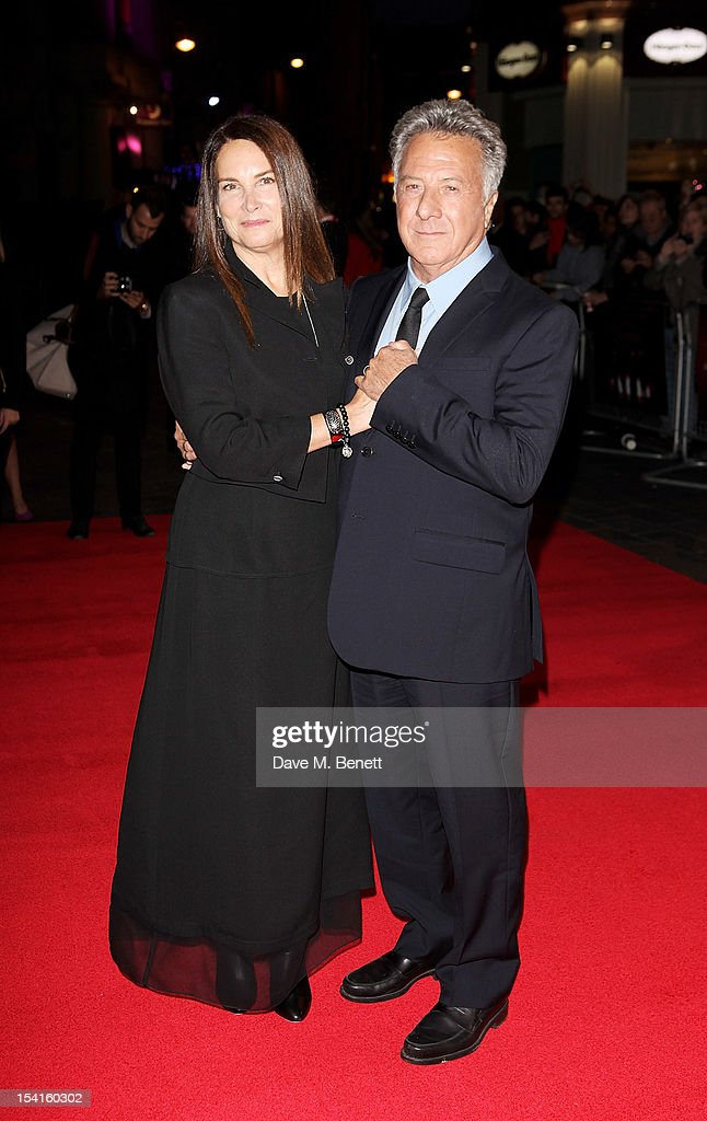 Director Dustin Hoffman (R) and wife Lisa attends the Premiere of 'Quartet' during the 56th BFI London Film Festival at Odeon Leicester Square on October 15, 2012 in London, England.