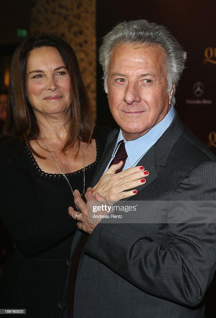 Director Dustin Hoffman and wife Lisa Gottsegen attend the premiere of 'Quartet' at Deutsche Oper on January 20, 2013 in Berlin, Germany.