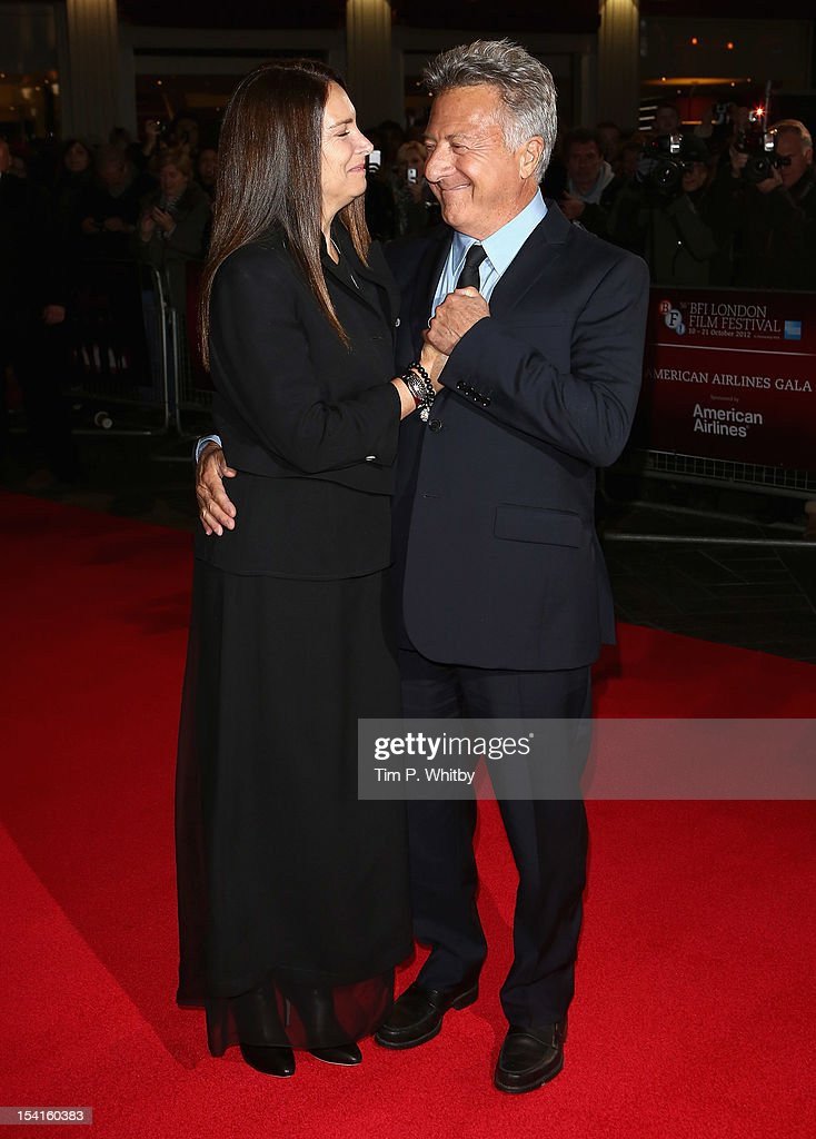 Director Dustin Hoffman with his wife Lisa attend the 'Quartet' premiere during the 56th BFI London Film Festival at the Odeon Leicester Square on October 15, 2012 in London, England.