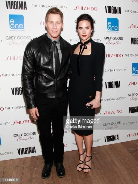 Director Dustin Lance Black and actress Jennifer Connelly attend The Cinema Society Shiseido with Grey Goose host a screening of 'Virginia' at Crosby...