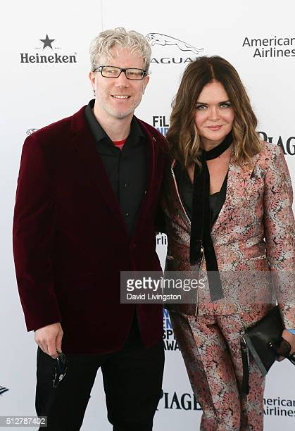 Director Eddie Schmidt and production designer Rachel Kamerman attend the 2016 Film Independent Spirit Awards on February 27 2016 in Santa Monica...