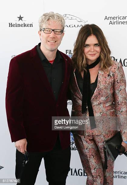 Director Eddie Schmidt and production designer Rachel Kamerman attend the 2016 Film Independent Spirit Awards on February 27, 2016 in Santa Monica,...