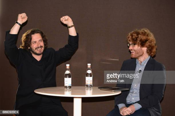 Director Edgar Wright and Writer for New York Magazine Abraham Riesman onstage at the Vulture Festival at The Standard High Line on May 20 2017 in...