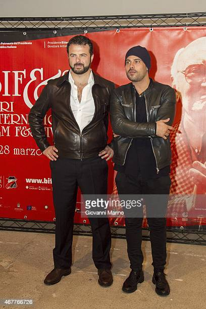 Director Edoardo De Angelis and actor Marco D'Amore attend a photocall before the 'Perez' Press Conference during Bifest 2015 on March 27 2015 in...