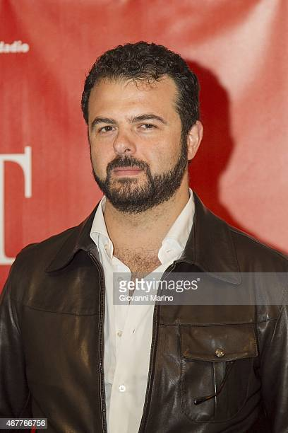 Director Edoardo De Angelis attends a photocall before the 'Perez' Press Conference during Bifest 2015 on March 27 2015 in Bari Italy