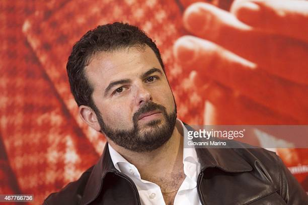Director Edoardo De Angelis attends the 'Perez' Press Conference during Bifest 2015 on March 27 2015 in Bari Italy
