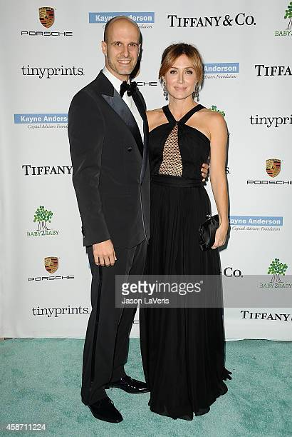 Director Edoardo Ponti and actress Sasha Alexander attend the 2014 Baby2Baby gala at The Book Bindery on November 8 2014 in Culver City California