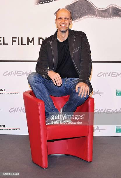 Director Edoardo Ponti attends the Il Turno Di Notte Lo Fanno Le Stelle photocall during the 7th Rome Film Festival at the Auditorium Parco Della...