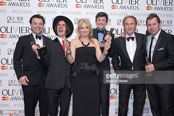 Director Edward Hall, Best Supporting Actor winner George Maguire, producer Sonia Friedman, Best Actor winner John Dagleish, Ray Davies and...