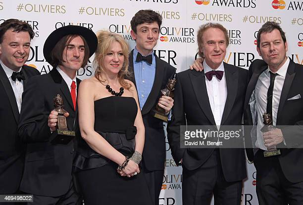 Director Edward Hall Best Supporting Actor winner George Maguire producer Sonia Friedman Best Actor winner John Dagleish Ray Davies and playwright...
