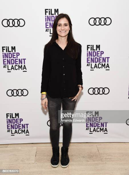 Director Elaine McMillion Sheldon attends the Film Independent at LACMA Special Screening of '11/8/16' at the Bing Theatre At LACMA on October 19...