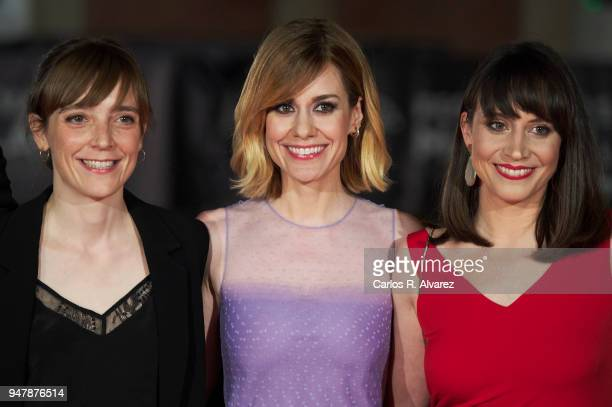 Director Elena Trape and actresses Alexandra Jimenez and Maria Ribera attend 'Las Distancias' premiere during the 21th Malaga Film Festival at the...