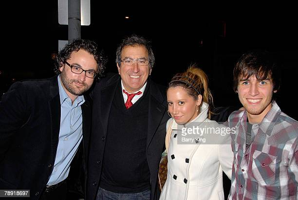LOS ANGELES CA JANUARY 11 Director Eli Gonda director Kenny Ortega actress Ashley Tisdale and actor Jared Murillo attend Venice Magazine's after...