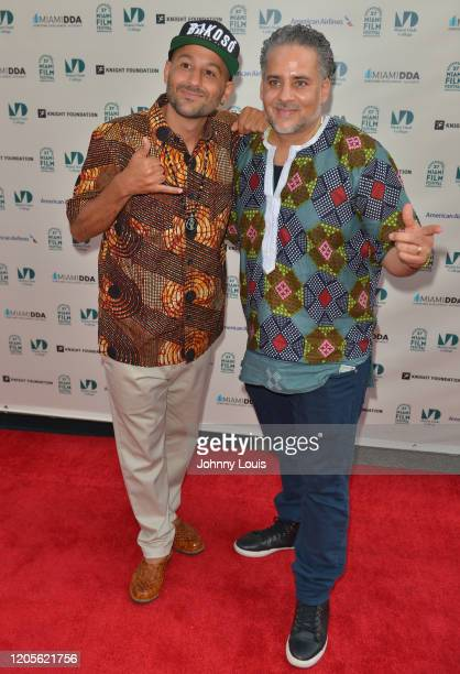 Director Eli JacobsFantauzzi and Kahlil JacobsFantauzzi from documentary film 'Bakosó Afrobeats of Cuba' are seen during 37th Annual Miami Film...