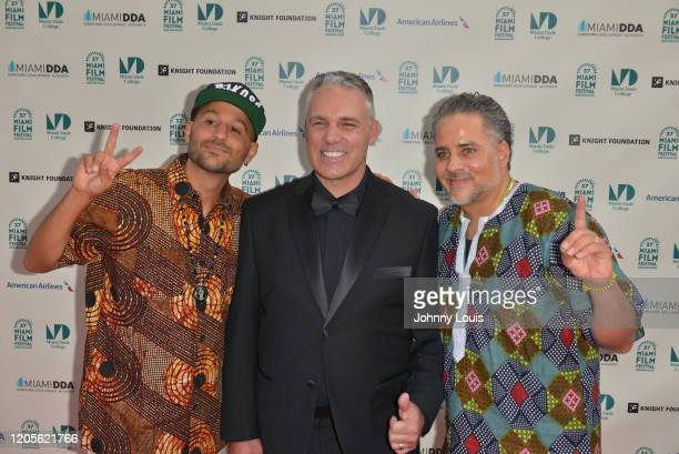 Director Eli JacobsFantauzzi and Kahlil JacobsFantauzzi from documentary film 'Bakosó Afrobeats of Cuba' and Jaie Laplante are seen during 37th...
