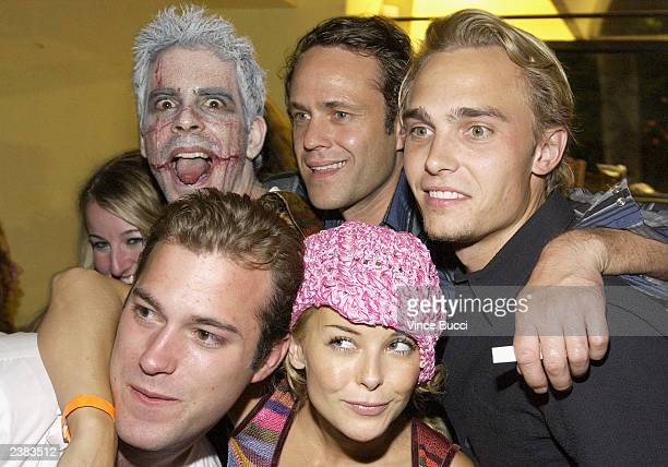 Director Eli Roth and actors Arie Verveen Joey Kern and James DeBello and Jordan Ladd attend the afterparty for the premiere of the film Cabin Fever...