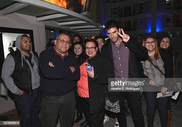 Director Eli Roth and fans attend a special screening of CBS Films' 'The Last Exorcism Part II' at AMC 16 on February 28 2013 in Burbank California