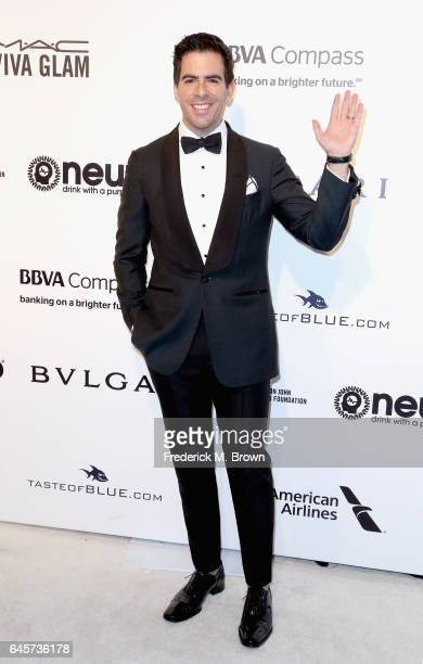 Director Eli Roth attends the 25th Annual Elton John AIDS Foundation's Academy Awards Viewing Party at The City of West Hollywood Park on February 26...