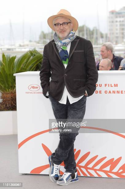 Director Elia Suleiman attends thephotocall for It Must Be Heaven during the 72nd annual Cannes Film Festival on May 24 2019 in Cannes France