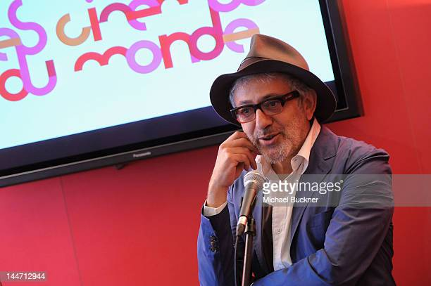 Director Elia Suleiman speaks at the Maria de Medeiros press conference during the 65th Annual Cannes Film Festival on May 18 2012 in Cannes France