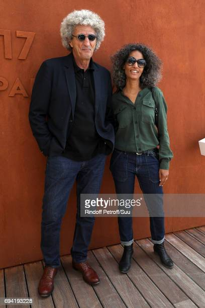 Director Elie Chouraqui and his wife Isabel Sulpicy are spotted at Roland Garros on June 9 2017 in Paris France