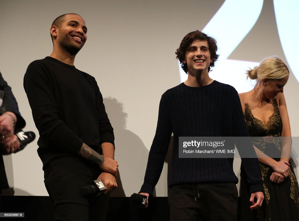 Director Elijah Bynum and actor Timothee Chalamet attends Imperative Entertainment's 'Hot Summer Nights' SXSW World Premiere at Paramount Theatre on March 13, 2017 in Austin, Texas.