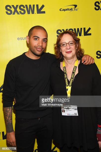 Director Elijah Bynum and SXSW Film Festival Director Janet Pierson attend the 'Hot Summer Nights' premiere 2017 SXSW Conference and Festivals on...