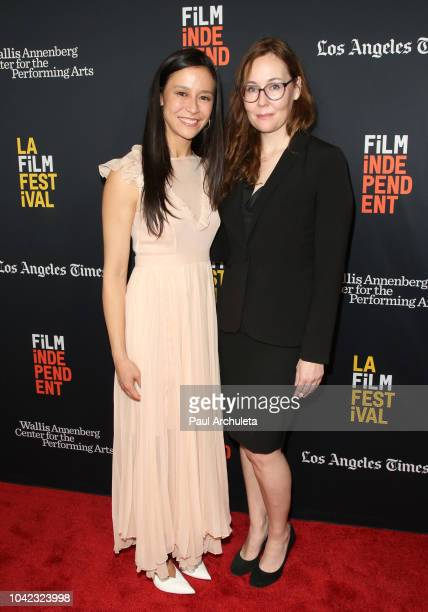 Director Elizabeth Chai Vasarhelyi and LA Film Festival Director Jennifer Cochis attend the screening of Free Solo at the 2018 LA Film Festival at...