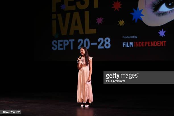 Director Elizabeth Chai Vasarhelyi attends the screening of Free Solo at the 2018 LA Film Festival at the Wallis Annenberg Center for the Performing...