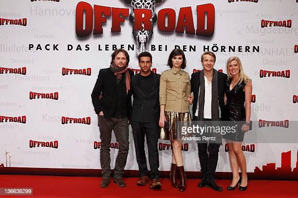 Director Elmar Fischer, actor Elyas M'Barek, actress Nora Tschirner, actor Maximilian von Pufendorf and actress Nele Kiper attend the 'Offroad'...