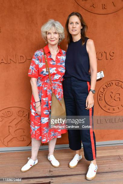 Director Eloise Lang and actress MarieChristine Adam attend the 2019 French Tennis Open Day Ten at Roland Garros on June 04 2019 in Paris France