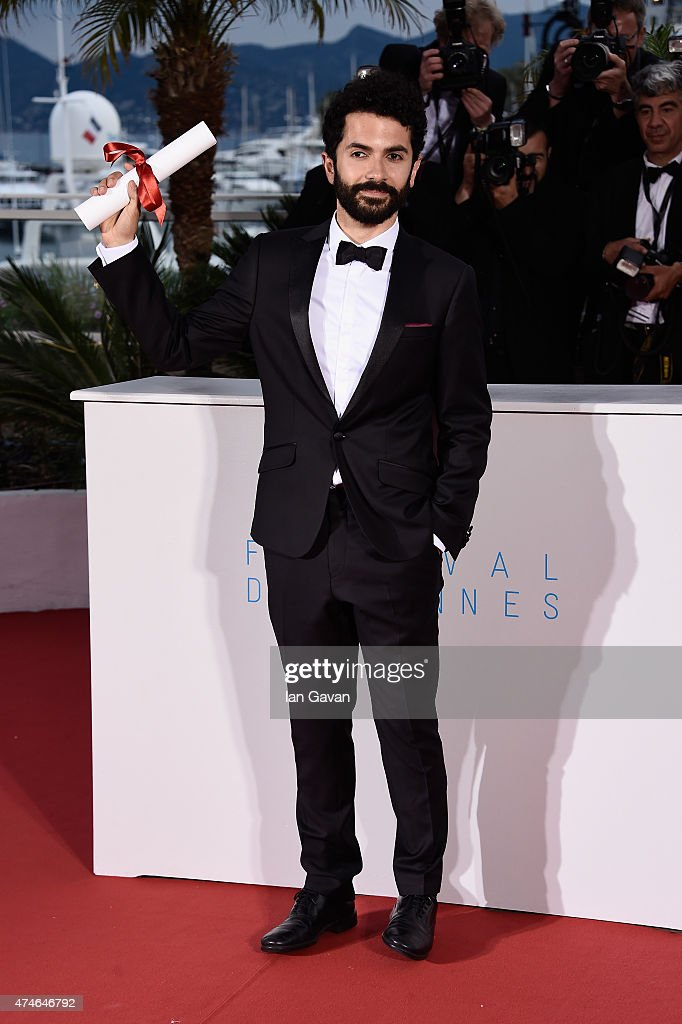 Director Ely Dagher, winner of the Palme d'Or for his short film ' Waves '98' poses at a photocall for the winners of the Palm D'Or during the 68th annual Cannes Film Festival on May 24, 2015 in Cannes, France.