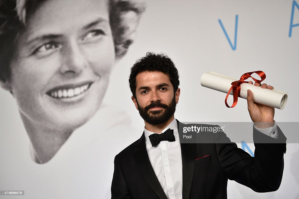 Director Ely Dagher, winner of the Palme d'Or for his short film ' Waves '98' attends the Palm D'Or Winners press conference during the 68th annual Cannes Film Festival on May 24, 2015 in Cannes, France.